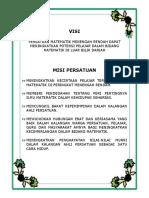 VISI & MISI Persatuan