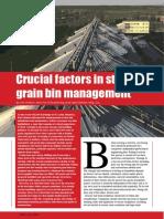 Crucial factors in steel grain bin management