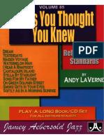 """Tunes You Though You Knew (Reharmonized Standards).PDF"""""""