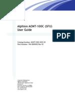 Alphion AONT-100C (SFU) User Guide
