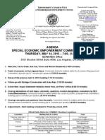 ECWANDC Special Economic Empowerment Committee Agenda - May 14, 2015