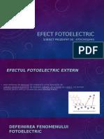 Efect Fotoelectric