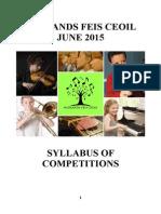 Midlands Feis Ceoil Syllabus