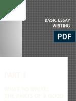 Basic Essay Writing PPT