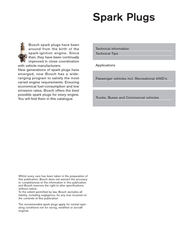 Bosch Ignition Tune up Kit Volvo 93-97 850 98 C70 S70 V70
