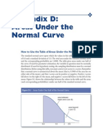 Areas Under the Normal Curve