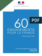 60 engagements pour la France, trois ans plus tard