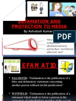 Defamation and Protection to Media