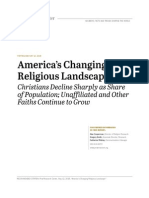 Pew report on US religion