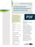 Understanding the Residential Development Standards ResCode PN27 June 2014