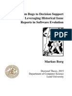 From Bugs to Decision Support - Leveraging Historical Issue Reports in Software Evolution