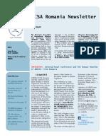 ECSA Romania Newsletter Issue No. 5