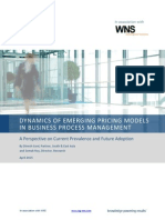 Dynamics of Emerging Pricing Models In Business Process Management