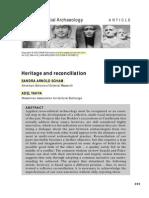 06 Scham 2003 Heritage & Reconciliation