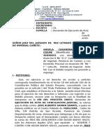 Demanda de Ejecucion de Acta de Conciliacion- Abogados Asociados