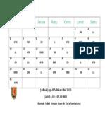 Jadwal Jaga IBS Bulan Mei 2015