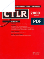 Computer And Telecommunications Law Review February 2000