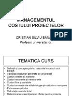 Managementul Costului Proiectelor