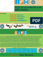 Forensic Science Services, Education, Training and Investigation