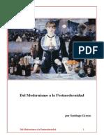 Del Modernismo a la Postmodernidad