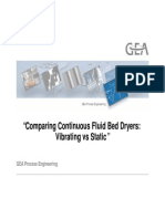 Comparing Continuous Fluid Bed Dryers