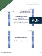 Exercicios Algoritmos 1 LC Quimica 2009