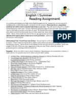 summer reading assignment 2015-2016