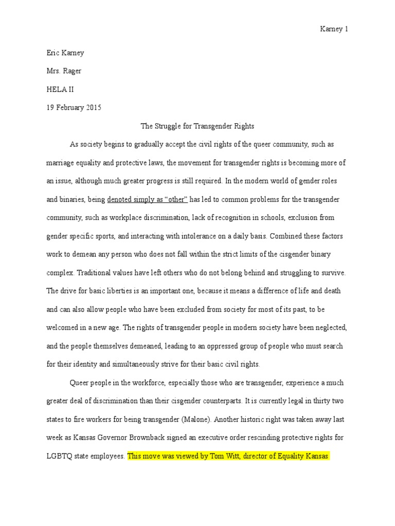 argumentative essay lgbtq rights transgender
