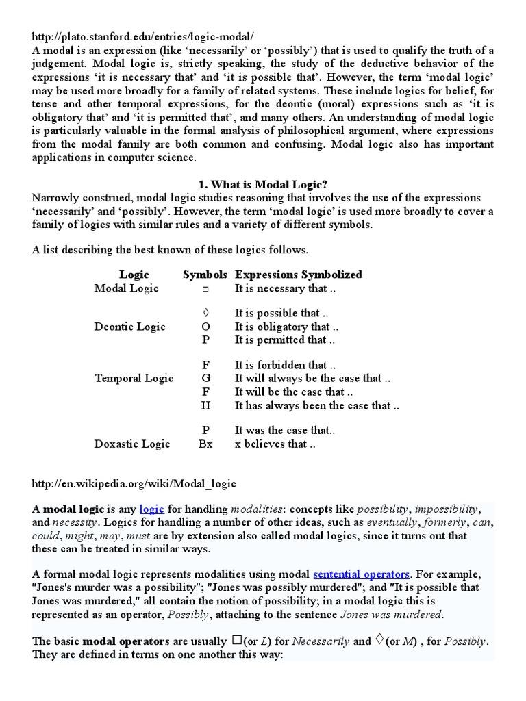 Ana Bekoa Wikipedia logica modala | modal logic | logic