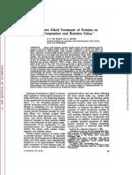 Efectul tratamentului alcalin asupra proteinei