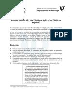 Resumen Estilo APA - Sexta Edición