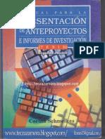 Manual Para La Presentacion de Anteproyectos e Informes de Investigacion