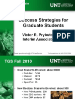 Success Strategies fro grad school