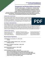 VP PMO Director Operations in USA Resume Tim Burton