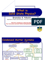 What is Solid State Physics