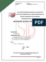 Trabajo Monográfico - Motivación, Actitudes y Afectividad