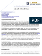 UC Davis Koret Shelter Medicine Program - Antibiotics Commonly Used in Animal Shelters - 2012-04-25