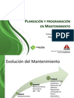 Planeacion y Programacion en Mantenimiento