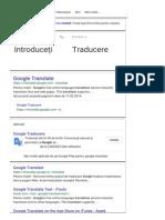 Google Translate - Căutare Google