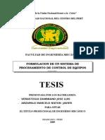 FORMULACION DE UN SISTEMA DE PROCESAMIENTO DE CONTROL DE EQUIPOS