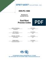 EW Process Codes