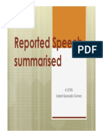 Reported Speech A_Levels