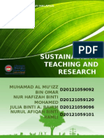 Kelestarian Pengajaran Dan Penyelidikan (Slide)