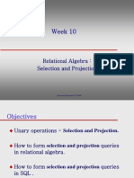 Relational Algebra Selection and Projection
