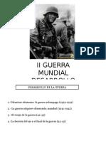 Desarrollo II Guerra Mundial.