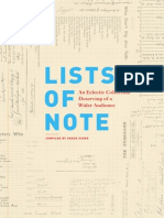 Lists of Note (Excerpt)