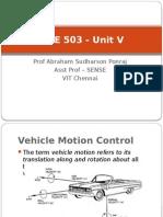 MEE 503 - Unit V