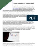 Posicionamiento En Google. Marketing En Buscadores web