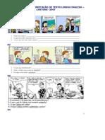 Atividades Cartuns Ingles