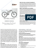 Foes Bicycles Hydro I Frameset (2013) User Manual